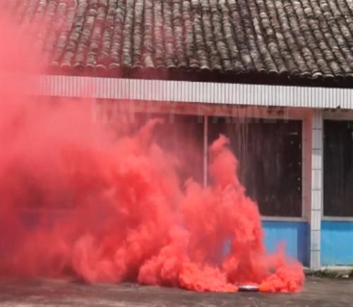 Humo rojo bidireccional