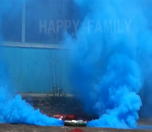 Fumaça azul bidirecional