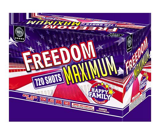 HAPPY FAMILY FIREWORKS ROMAN CANDLE JL522042 FREEDOM MAXIMUM 720 shots CANDLE FIREWORKS